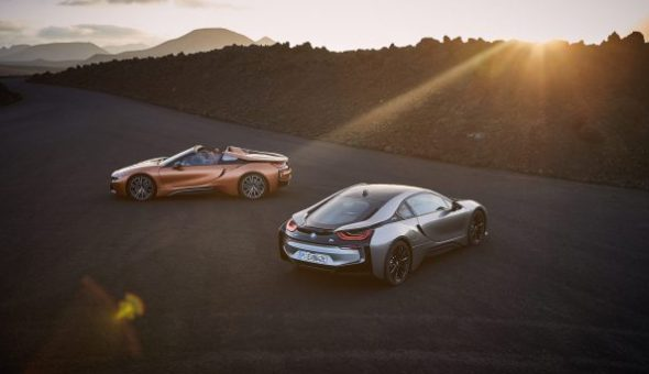 De BMW i8 Roadster en BMW i8 Coupé.